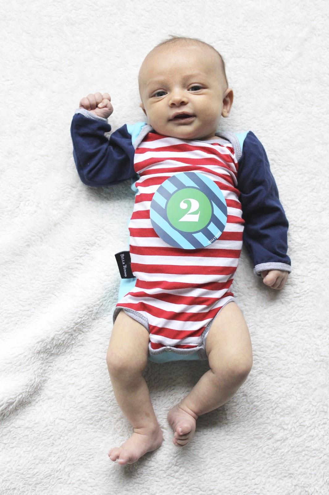 2 month baby update, Bella Tunno
