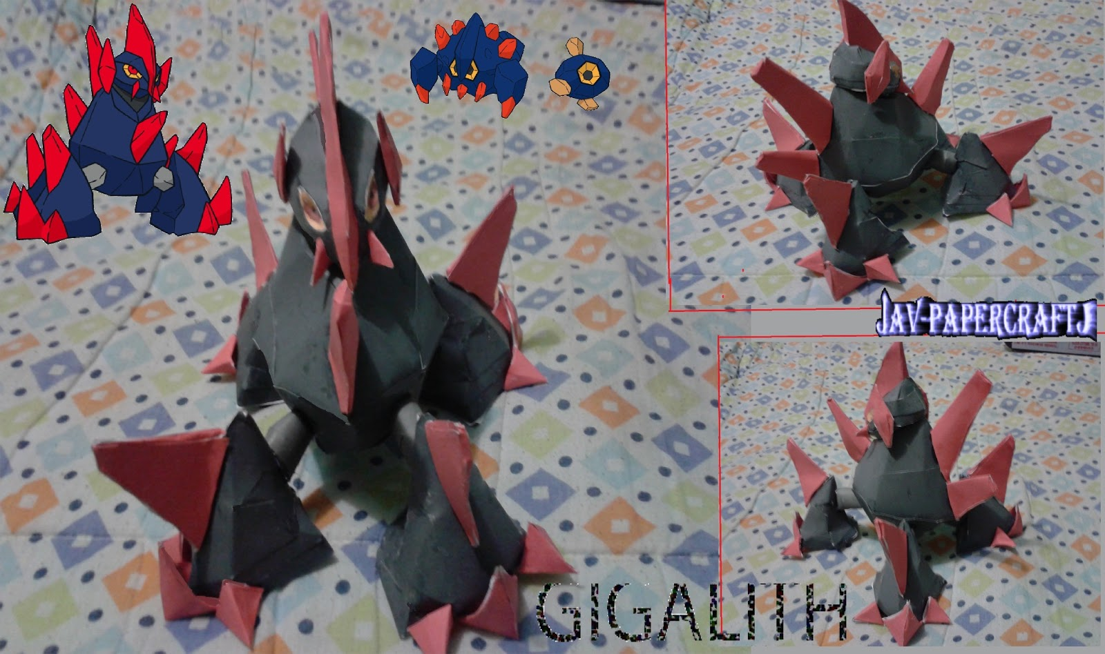 Pokemon Gigalith Papercraft