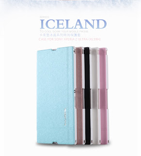 KLD Iceland Series Leather Flip Case + Film for Sony Xperia Z Ultra XL39H C6802
