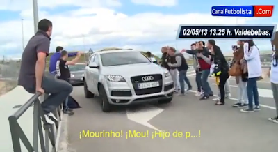 Mourinho insultado por adeptos do Real Madrid