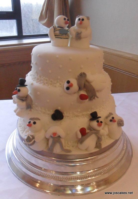 Jo\'s Cakes: Snowman Themed Winter Wedding Cake