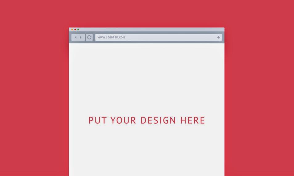 Flat Browser PSD Mockups