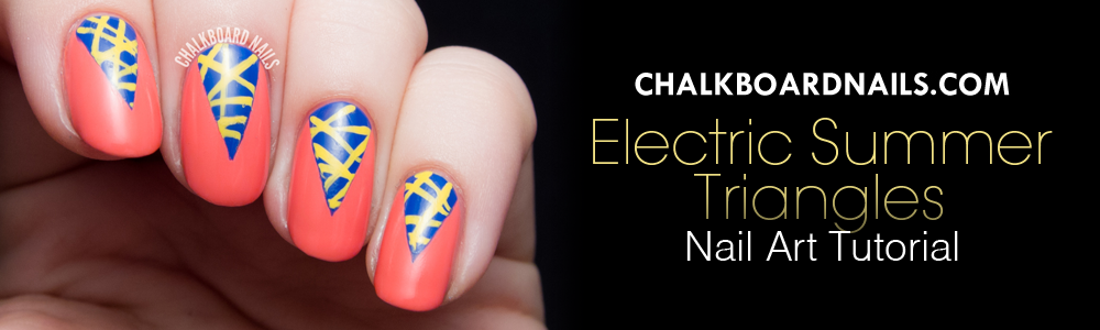 Electric Summer Triangle Nail Art Tutorial