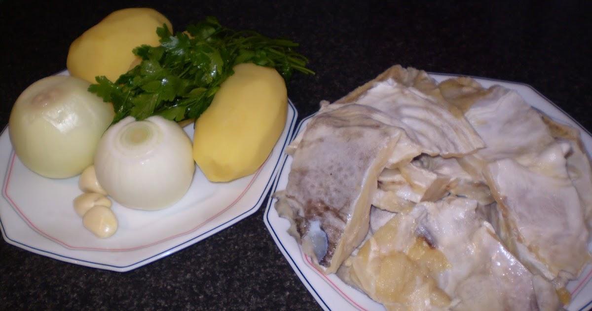 Rumbo a gran sol patatas guisadas con cabeza de bacalao - Patatas en caldo con bacalao ...
