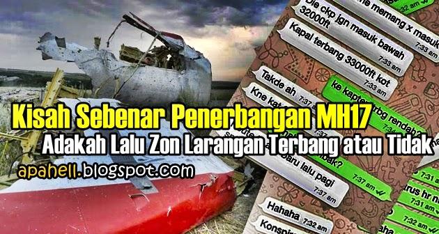 MH17 : Jawapan Adakah MH17 Lalu Zon Larangan Terbang atau Tidak