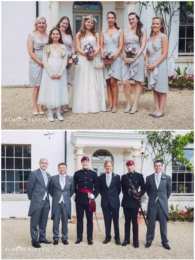 Roughmoor Farm wedding group photo