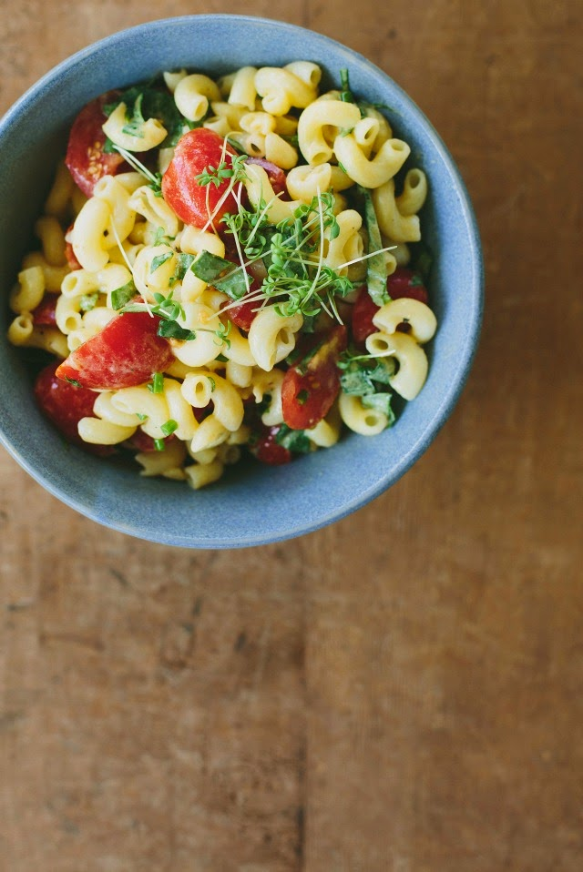 pasta salad with mustard vinaigrette any small cooked leftover pasta ...