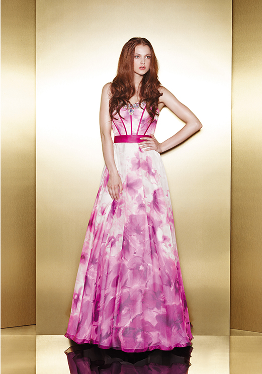 Love 16 Print Long Prom Dresses by Enzoani 2013
