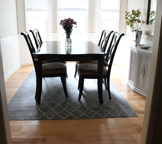 How to Stencil a Rug {on the cheap!}