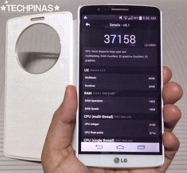 LG G3 Review, LG G3 Antutu Benchmark Score