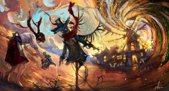 HongWen xaeroaaa deviantart ilustrações fantasia ficção científica Campo do coração