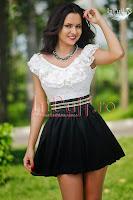 Rochie casual white-black