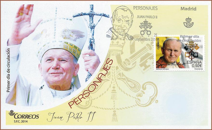 Sobre Primer Día de Circulación sello personajes: Juan Pablo II