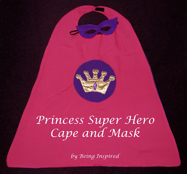 Princess Super Hero Cape and Mask - Being Inspired