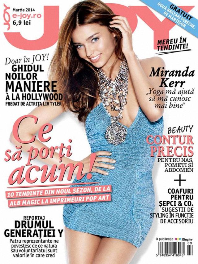 Miranda Kerr en portada de la revista Joy marzo 2014