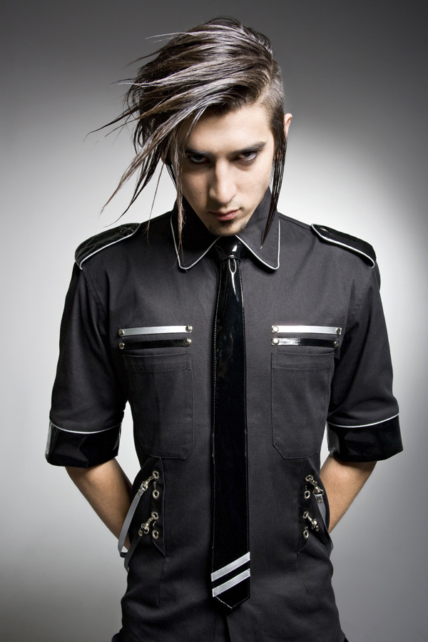 darker fashions cyber corporate goth mens futuristic