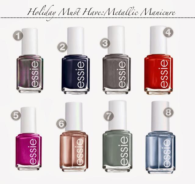 Holiday Must Haves- Essie Nail Polish- Holiday Nail Polish-Metallic Nail Polish