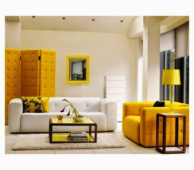 Wall paint color schemes living room for Bright coloured living room ideas