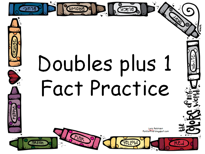 Fun for first doubles plus 1 fact practice powerpoint