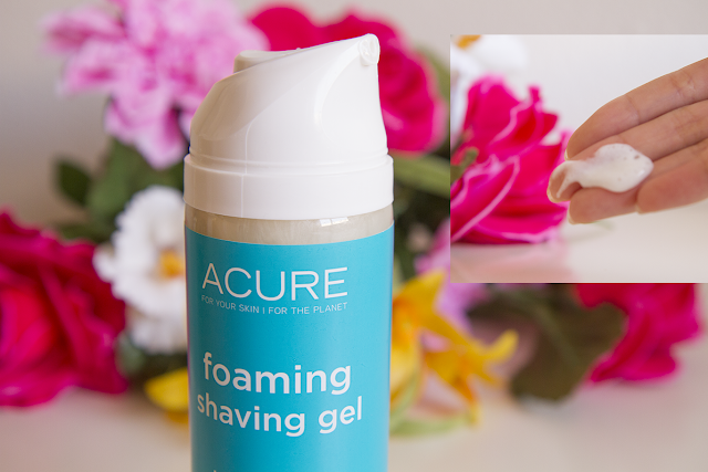 Photo of Acure foaming shaving gel.