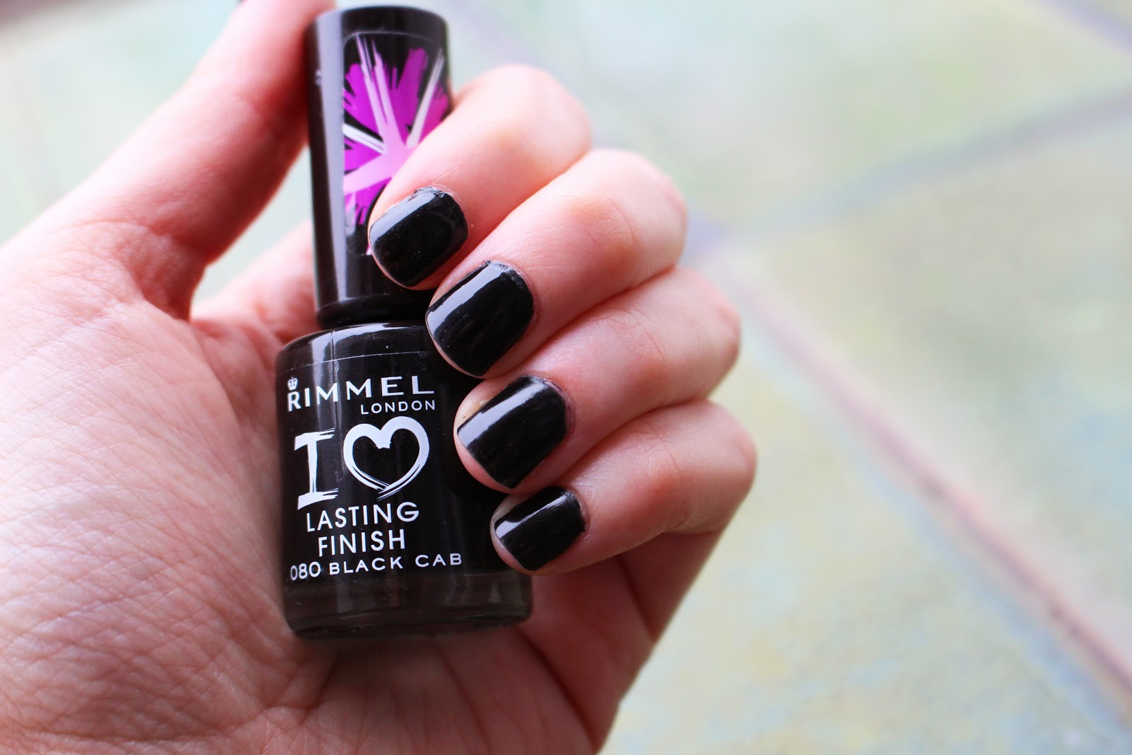 nail polish rimmel london black cab