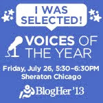 BlogHer13 Voice of The Year Honoree