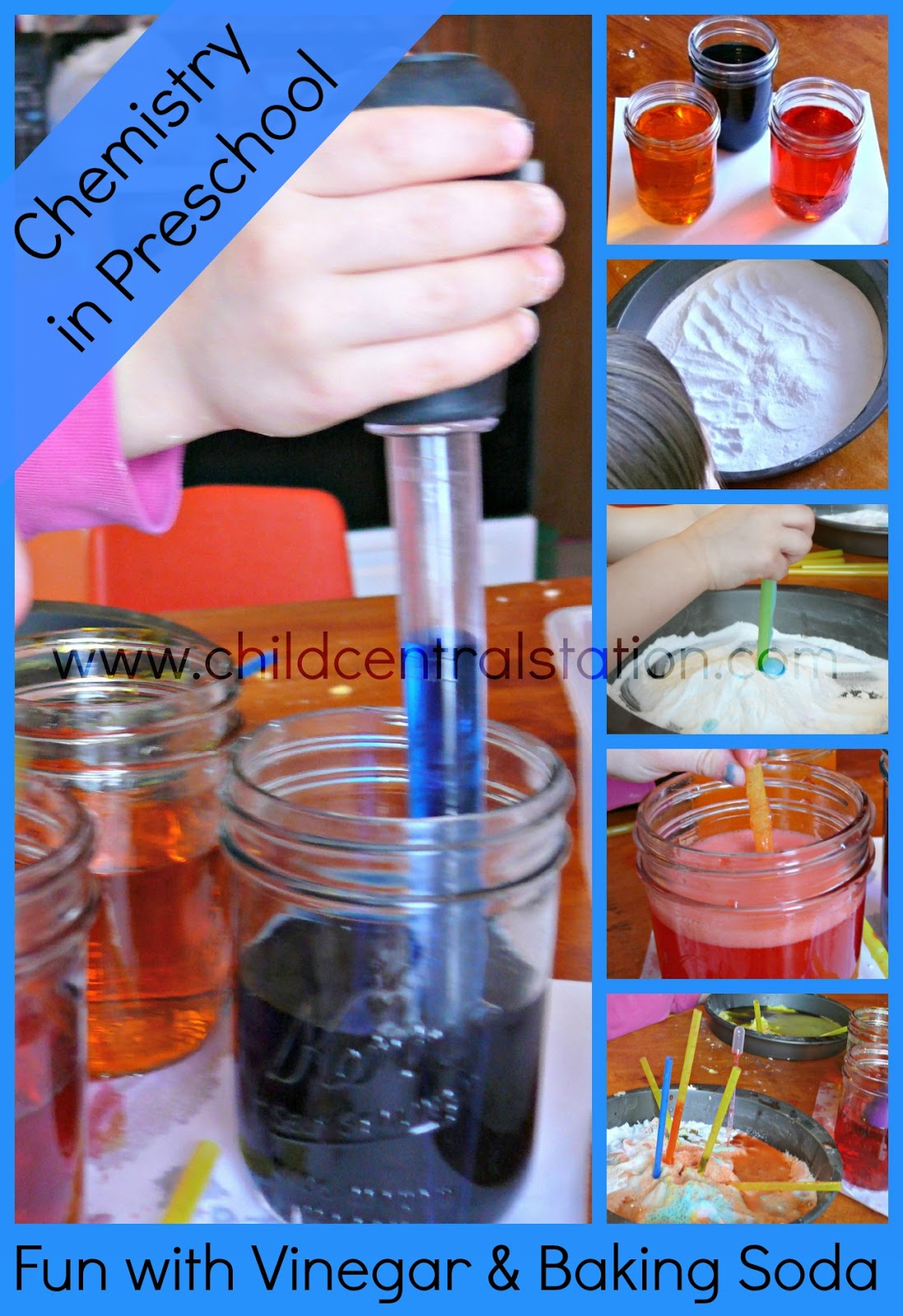 Preschool Chemistry Fun With Vinegar And Baking Soda