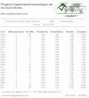 estadísticas apuestas euromillones