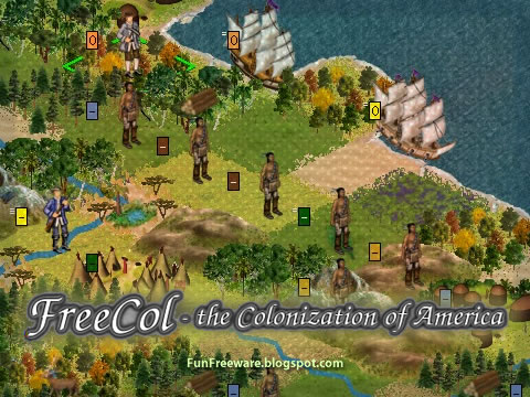 FreeCol Strategy Game Screenshot Image