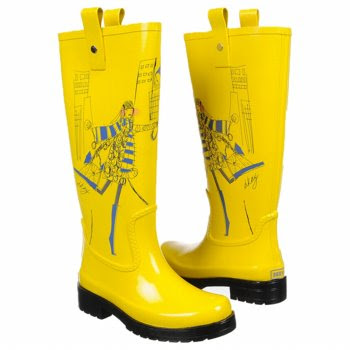 Yellow gummy boots -  Donna Karan NY - Donna Karan New York shoes
