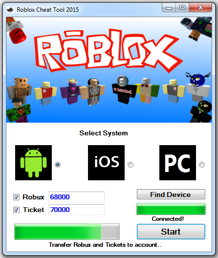 roblox robux hack pc ticket cheat tool ios android cheats status working