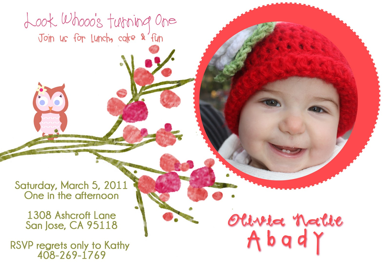 Olivia\'s Escapades!: My First Birthday Party Invitation