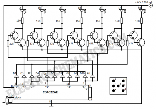 electronic dice circuit diagram