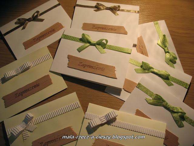 Zaproszenia i zawiadomienia ślubne własnoręcznie robione