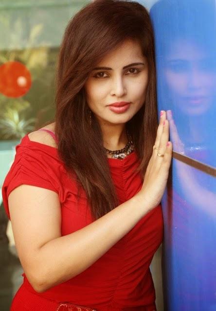 Hot Actress Hashika Dutt in Sexy Red Dress