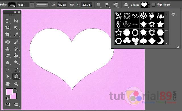 Cara membuat kartu ucapan valentin dengan photoshop