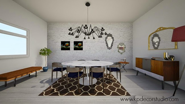 decoracion online estilo danes vintage pared ladrillo