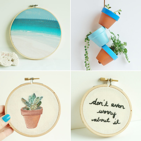 SHOP HOOPLA. Hand embroidered hoop art and lovely objects for home. #etsy #handmade