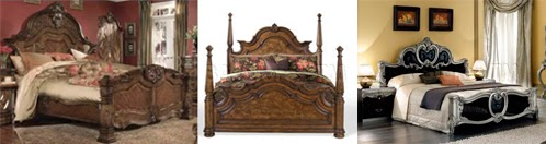 Wooden carved headboards
