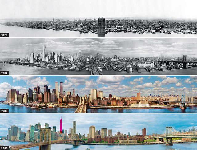 New York Skyline Evolution Since 1876