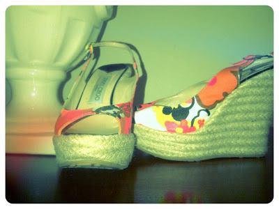 Jimmy Choo Polar Tropical Print Espadrille Wedges