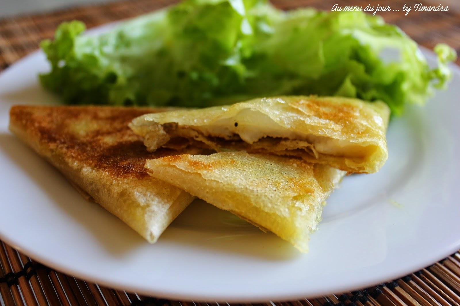 Samoussa foie gras et saint jacques