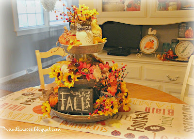 fall galvanized centerpiece