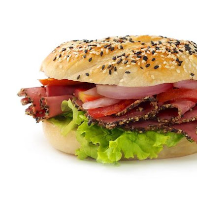Peppered Ham, Tomato, Red Onion & Lettuce