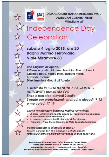Associazione italo americana del friuli venezia giulia independence day celebration july 4th - Bagno ferroviario trieste ...