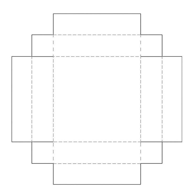 коробочка-дно из бумаги