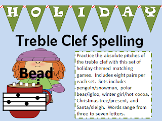 http://www.teacherspayteachers.com/Product/Holiday-Themed-Treble-Clef-Spelling-Game-988903