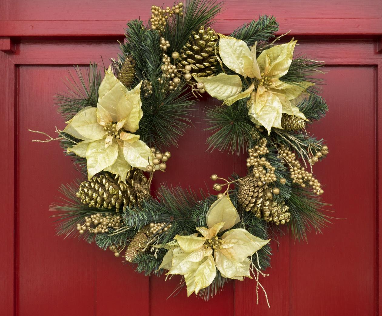 ngeles amor el ritual de la corona adviento On puertas decoradas sobre navidad