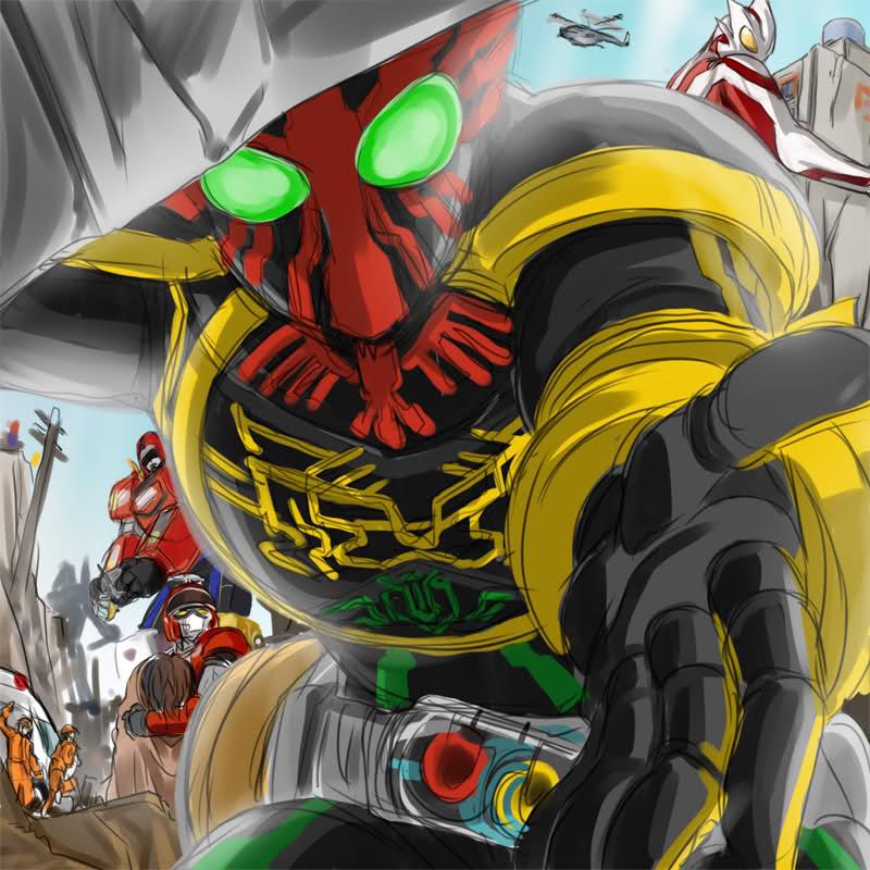 [ANIME]Heroes del Tokusatsu animan a los niños en tiempos dificiles Heroes