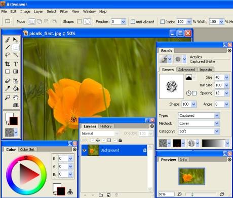 ArtWeaver éditeur d'images gratuit - alternatif à Photoshop